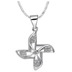 Diamond Windmill Shaped Necklaces Free by UloveFashionJewelry, $9.00