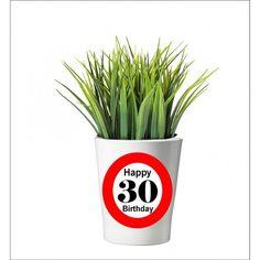 133 -  Geburtstagsgeschenk 30 Pflanzentopf ohne Pflanze Happy 20th Birthday, Happy 30th, 30th Birthday, Tableware, Plants, Gifts, Dinnerware, Dishes, Place Settings