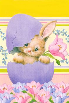 Cute bunny hatching from an Easter egg Easter Art, Easter Crafts, Ostern Wallpaper, Lapin Art, Easter Illustration, Easter Pictures, Bunny Art, Easter Parade, Easter Printables