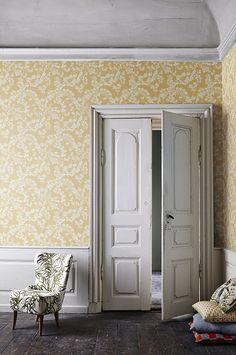 Botanic Garden Swedish Wallpaper, Cottage Wallpaper, Interior Wallpaper, Cool Wallpaper, Fashion Room, Home Fashion, Interior And Exterior, Interior Design, Cozy Cottage