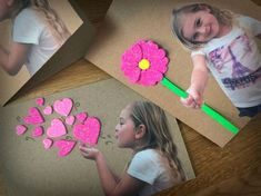 Mother's Day projects for kids to make. Beautiful craft ideas for kids to make a special card for Mother's Day. Grandparents Day Crafts, Mothers Day Crafts For Kids, Fathers Day Crafts, Mothers Day Cards, Valentine Day Crafts, Mother Day Gifts, Valentines, Kids Crafts, Preschool Crafts