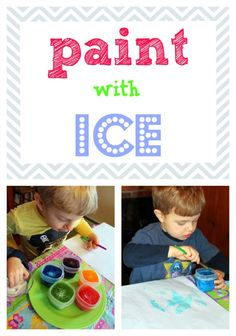 paint with ice... add a little bit of salt... then head OUTSIDE... paint your snow covered back yard!