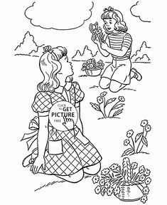 Spring Coloring Book Pages - Beautiful day | coloring pages ...