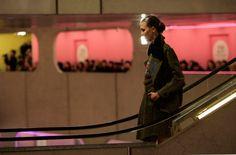 Kenzo runway show escalator