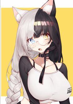 Anime art kawaii cute cat neko girl Memes, Neko, Cute Girls, Kawaii, Manga, Animal Ears, Anime Girls, Anime Guys, Profile Pics