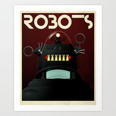 Robots - Robby Art Print by Greg-guillemin - $18.00