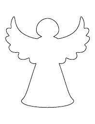 Раскраски Ангел простой ангел контур для вырезания из бумаги для детей