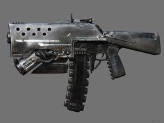 Old clunky gun, Vitaly Bulgarov on ArtStation at https://www.artstation.com/artwork/WrJgy