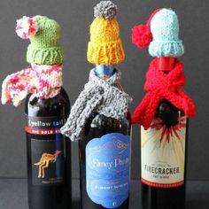 tuque et foulard bouteille de vin
