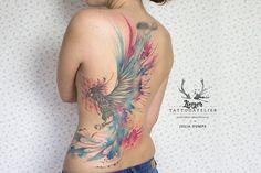 Phoenix Watercolor Tattoo