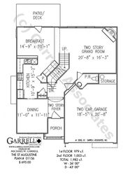 St. Augustine House Plan | House Plans by Garrell Associates, Inc