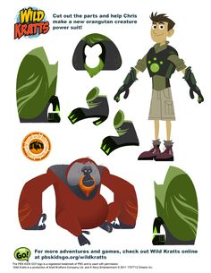Bring the fun and learning of Wild Kratts to life with these special bookmarks, activities and worksheets.