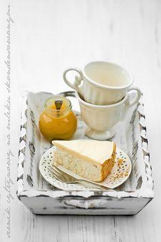Zitronenkäsekuchen Markt auf Kondensmilch, Sahne und Zitrone