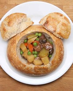 Disneyland's Slow-Cooked Beef Stew Bread Bowl (Re-Created)