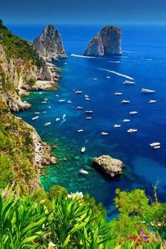 beautiful Capri, Italy.