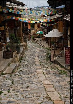 Yunnan > Old city, Shangri-la, China -- also known as Zhongdian. Vietnam, Tibet, Places To Travel, Places To See, Lijiang, Kunming, Chinese Architecture, China Travel, Old City