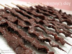 Chocolate Covered Bacon - These would be great for any guy for a Valentine's Day treat!
