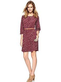 Cherry Print Blouson Dress (Radish). [Does not include belt.] Gap. $59.95