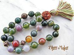 Mini Pocket Mala 27 Bead Mala Prayer Beads Wrist by BlissMalas