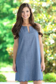 EVERLY: Every Step Of The Way Chambray Dress - Dresses | The Red Dress Boutique