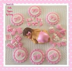 1 X LGE Baby Girl 6 X Feet Cupcake Toppers 20 Mixed Decorations Baby Shower | eBay