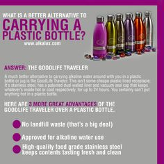 What is a Better Alternative to Carrying a Plastic Bottle? http://www.alkalux.com/products/good-life-bottles.html