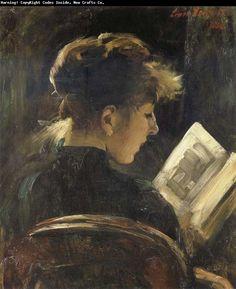 "Lovis Corinth (1858-1925). ""Reading Girl"""