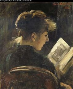 "Louis Corinth (1858-1925). ""Reading Girl""  - #reading #books"
