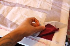 Tutorial for using tissue paper to help make sewing slippery fabrics easier. Sewing Tools, Sewing Hacks, Sewing Tutorials, Sewing Crafts, Sewing Projects, Sewing Patterns, Sewing Ideas, Quilting Tutorials, Clothes Patterns