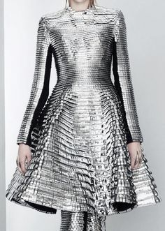 Gareth Pugh Spring 2011 silver dress futuristic future clothing clothes