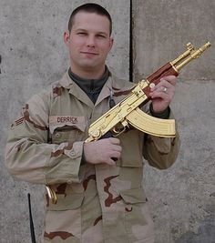 AK-47 gold plated kalashnikov,found @ the palace in Baghdad