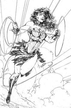 Wonder Woman Sketch by Brett Booth