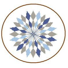 Mandala Cross Stitch Pattern Geometric cross par ZindagiDesigns