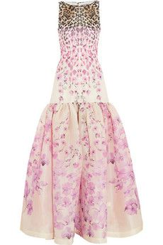 Temperley London Orchidea printed silk-gazaar gown | NET-A-PORTER