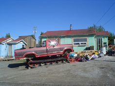 Home made Snow mobile that I saw on one of my trips to Yellowknife, NWT