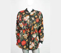Weiteres - Flowerpower- geblümte lange Vintage Blousonjacke - ein Designerstück von VelvetVintageclothing bei DaWanda