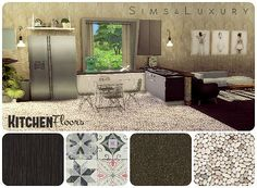 Sims 4 CC's - The Best: Kitchen Floors by Sims4Luxury