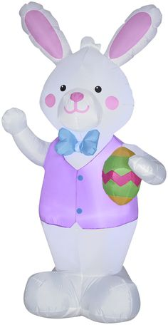 7' Airblown Bunny w/ Easter Egg Spring Inflatable