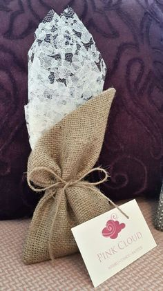 Burlap & Lace Burlap Lace, Pink Clouds, Reusable Tote Bags, Gift Wrapping, Gifts, Gift Wrapping Paper, Presents, Wrapping Gifts, Favors