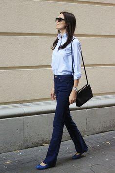 Salon Sense in MiH Jeans shirt in Italian Blue