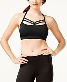 d4126b662f121 Material Girl Active Juniors  Rhinestone Strappy Sports Bra