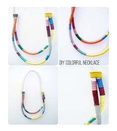 DIY rope necklace by TinyCarmen
