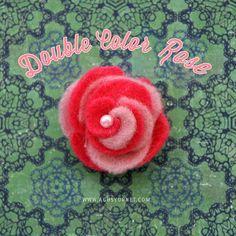 DIY: Double Color Felt Rose | Agus Yornet Blog