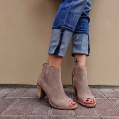 Summer booties.  sotd  boots  nordstrom Open Toe Boots c71a529ed