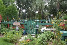 This is the Vegetable/Bottle Garden...