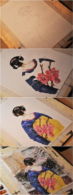 Ah jimmy painting watercolor illustrations