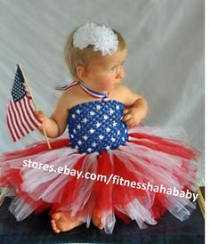 a278992c1 Newborn Baby Girl 4th of July Romper Tutu Dress+Headband Outfits Clothes  Set New | eBay