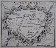 Groningen; diverse makers - 6 prenten - 17e / 19e eeuw - Catawiki Star Fort, Today In History, I Amsterdam, Teaching History, Fortification, City Maps, Old City, Languages, Netherlands