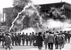 Kent State Massacre occurred on May Four Kent State students were killed and nine students were injured when members of the Ohio State Guard opened fire during a demonstration protesting the Vietnam War. Us History, American History, History Pics, Kent Ohio, Jackson State University, Ed Vedder, School Shootings, Lest We Forget, Thats The Way