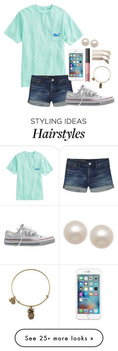 """""""Day 2-Last Day of School"""" by whalesandprints on Polyvore featuring Vineyard Vines, J.Crew, Converse, Alex and Ani, NARS Cosmetics, Honora, Emi-Jay and funinthesunwithmollyandellie"""